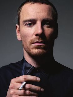 Michael Fassbender (love the photo not the cigarette)