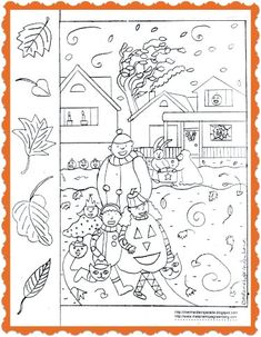 Free Printable Halloween coloring page (with rhyme and activity)