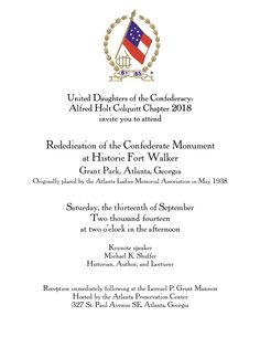 Fort Walker Monument re-dedication, Saturday, September 13 at 2:00 p.m.