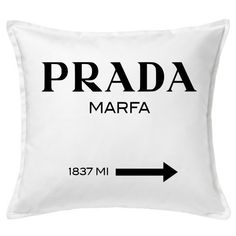 Prada Inspired Pillow Cover ($25) ❤ liked on Polyvore featuring home, home decor, throw pillows, inspirational throw pillows, handmade home decor and inspirational home decor