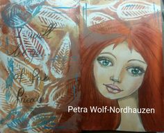 Moleskine reeves copper and gold. Polychromos girl. Art journal