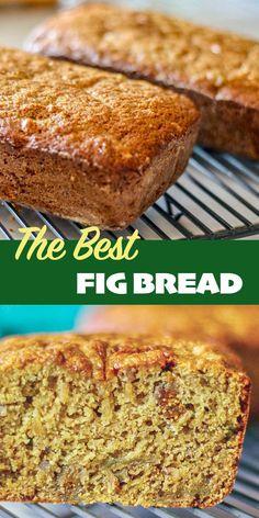Dried Fig Recipes, Fruit Recipes, Baking Recipes, Cake Recipes, Dessert Recipes, Bread Recipes, Desserts, Dried Fig Bread Recipe, Baking Breads