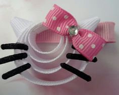 Hello Kitty ribbon hair clip