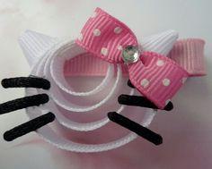 Hello Kitty ribbon hair clip