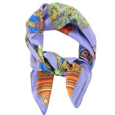 46d7c6e4a Labellov Versace scarf Lilac Medusa print ○ Buy and Sell Authentic Luxury