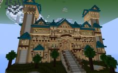 Inverted Minecraft Castle