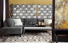 Odeon Dhurrie Rug - Chocolate/Citrus from Z Gallerie