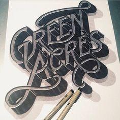 Green Acres #typography #Fonts #type