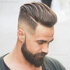Coolest Pompadour Hairstyles You Should See Pompadour Hairstyle, My Hairstyle, Undercut Hairstyles, Cool Hairstyles, Hairstyles 2018, Mens Hairstyles With Beard, Popular Mens Hairstyles, Haircuts For Men, Beard Styles For Men