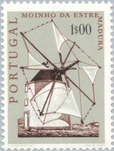 Stamp: Estramadura Windmill (Portugal) (Windmills) Mi:PT 1123,Sn:PT 1090,Yt:PT…