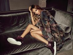 Jourdan Dunn Pose in Buscemi holiday 2015 lookbook Photoshoot