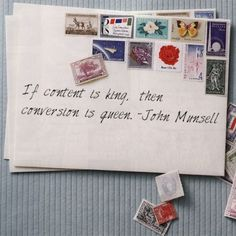 "DCG's #marketing quote of the week! ""If content is king, then conversion is queen."" -John Munsell, CEO of Bizzuka"