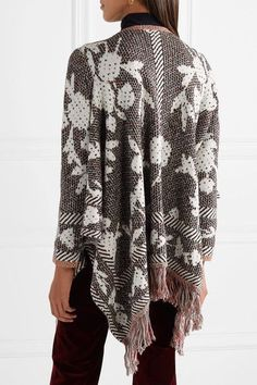 Fringed Cotton-blend Jacquard Cardigan - Gray See By Chloé Footlocker Finishline Cheap Price Sale Great Deals Outlet 100% Original Clearance Order LHKaGT