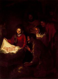 Adoración de los pastores by Bartolomé E. Murillo