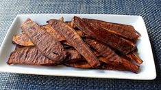 """Food Wishes Video Recipes: Eggplant """"Bacon"""" – Because Fake Bacon is Better than Real Eggplant Vegetarian Recipes, Cooking Recipes, Healthy Recipes, Vegetarian Bacon, Healthy Meals, Free Recipes, Easy Recipes, Healthy Food, Eggplant Chips"""