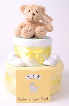 Unisex Nappy Cakes, 2 Tier Luxury Deep Filled Nappy Cake - £32.50