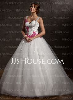 Wedding Dresses - $192.29 - A-Line/Princess Sweetheart Court Train Satin  Tulle Wedding Dresses With Ruffle  Lace  Sashes (002011413) http://jjshouse.com/A-line-Princess-Sweetheart-Court-Train-Satin-Tulle-Wedding-Dresses-With-Ruffle-Lace-Sashes-002011413-g11413