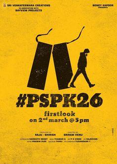 PSPK26 First Look Poster, Cast and Crew   Vakeel Saab Telugu Movie
