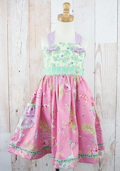 CECILIA YAMA DRESS  $62.00 | Code: P15JD118    1      Description  Born with love in the USA.   **Skirt trim may vary**   6896