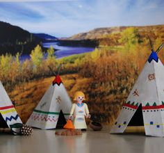 Here is another project in honor of the Calgary Stampede . Whenever we go down to the grounds my kids always want to visit the Indian Vill...