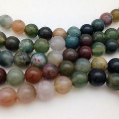 50 perles agate indienne 6mm - ronde - gemme pierre fine