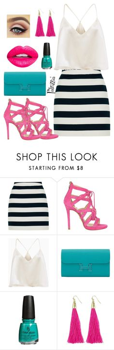 Patrizzia17.07.2017a by patrizzia on Polyvore featuring moda, Topshop, Atos Lombardini, Hermès, Moon and Lola, Nevermind and patrizziapolyvore