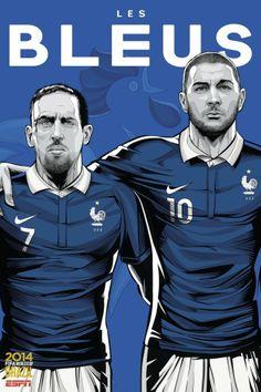 Les Bleus, avec Benzema et Ribery. ©Cristiano Siqueira