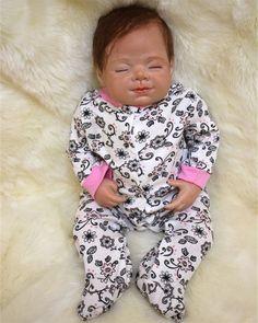 92.16$  Watch now - http://ali5ep.worldwells.pw/go.php?t=32701110566 - kawaii silicone reborn baby doll newborn sleeping babies accompany dolls Children Kids toys for Girls Christmas birthday gift
