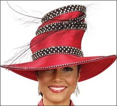 Designer Church Hats | ... High Fashion Designer Special Occasion Church Hat by Donna Vinci H4033
