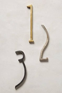 Love these numbers. Hand-Welded House Number. $30 at Anthro