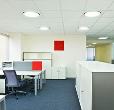 Photo about New ideas of modern office interior. Image of tables, modern, room - 25280547 Low Shelves, Storage Shelves, Storage Spaces, Office Cupboards, Metal Storage Cabinets, Photography Office, Hanging Files, Office Interiors, Interior Office