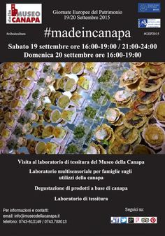 Giornate del Patrimonio Europeo del 19-20 settembre 2015 con