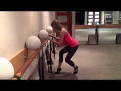 Tough but fun barre exercise that will tone your lower body and is sure to burn calories! For more info go to www.theballetphysique.com.