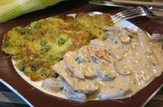 B-Vitamine aller Art mit Biotinen und Folsäure an wunderbaren grünen Eiweißkugeln in  Pufferform....das ist doch was Feines :-) http://www.umgekocht.de/2015/10/kartoffel-erbsen-puffer-mit-krauter-pilzrahm/