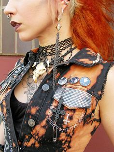 cut off bleached black denim vest