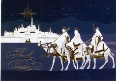 https://flic.kr/p/PMTgvs | Postcrossing US-4380990 | Christmas card with the three Wise Men and the Star of Bethlehem. Sent to a Postcrosser in Germany.