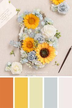 Color palettes and color inspiration for wedding. Dusty Rose Wedding Color Ideas for 2020 Scheme Color, Color Schemes Colour Palettes, Colour Pallette, Color Combos, Summer Color Palettes, Design Seeds, Sunflower Colors, Beautiful Color Combinations, Color Swatches