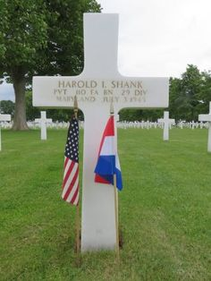 Private Harold I. Shank U.S. Army 110th Field Artillery Battalion, 29th Infantry Division Entered the Service From: Maryland Service #: 33890091 Date of Death: July 3, 1945 World War II Buried: Plot F Row 19 Grave 16 Netherlands American Cemetery Margraten, Netherlands