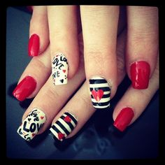Valentine's love by jbenge21 from Nail Art Gallery