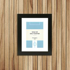 Book Clubs Coventry A4 Football Print in sky blue. by TommySauce, £9.99