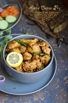 Guntur Chicken fry,a spicy fry with freshly ground masala paste.As this fry is . Indian Curry, Biryani, Curries, Manners, Etiquette, Fried Chicken, Soups, Chicken Recipes, Spicy