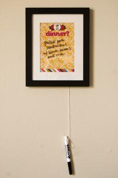 Dry Erase Dinner board
