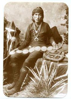 Postcard Navajo Silversmith Concho Belt  Native-American