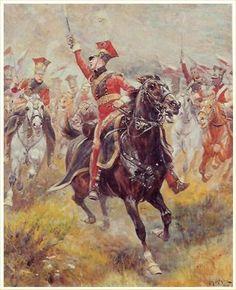 Lancieri rossi della guardia imperiale francese -Alphonse Lalauze