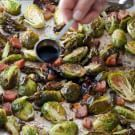 Try the Balsamic-Roasted Brussels Sprouts Recipe on williams-sonoma.com/