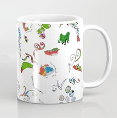 Tati Galiano. Ilustracion. Sociey6. Coffee Mug Grape bubbles. #society6 #grapes #illustration