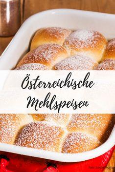 Von flaumigen Buchteln über Sachertorte bis hin zu Bienenstich...hier findest du die besten österreichischen Mehlspeisklassiker. Hamburger, Bread, Food, Bee Cakes, Easy Meals, Chef Recipes, Cooking, Food Food, Brot