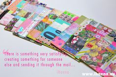 """""""There is something very satisfying creating something for someone else and sending it though the mail..."""" /@ihanna DIY Postcard Quote - share your postcards with us! #diypostcardswap #mailart #mixedmedia"""