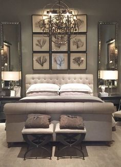 Master bedroom design idea.