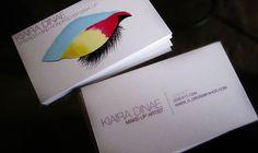 Cartões de visitas criativos para maquiadoras (es)   Assuntos Criativos